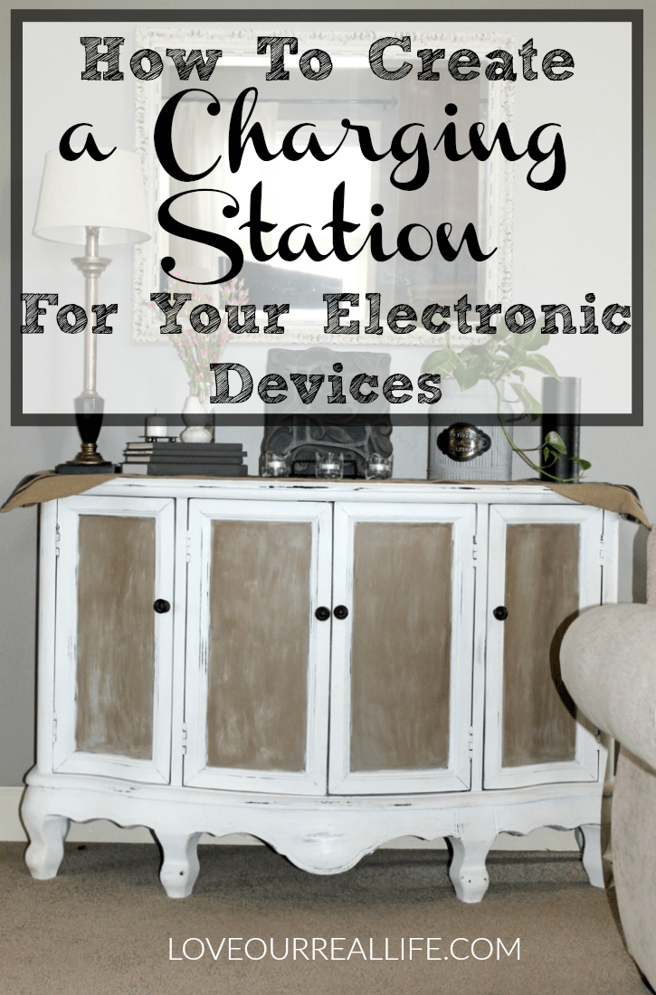 Charging station, create a charging station in a cabinet, store electronics in a cabinet, chalk paint, white and coco chalk paint