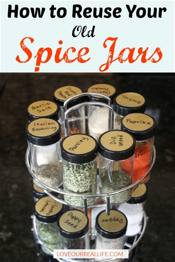 How to reuse old spice jars using spices you might actually use!