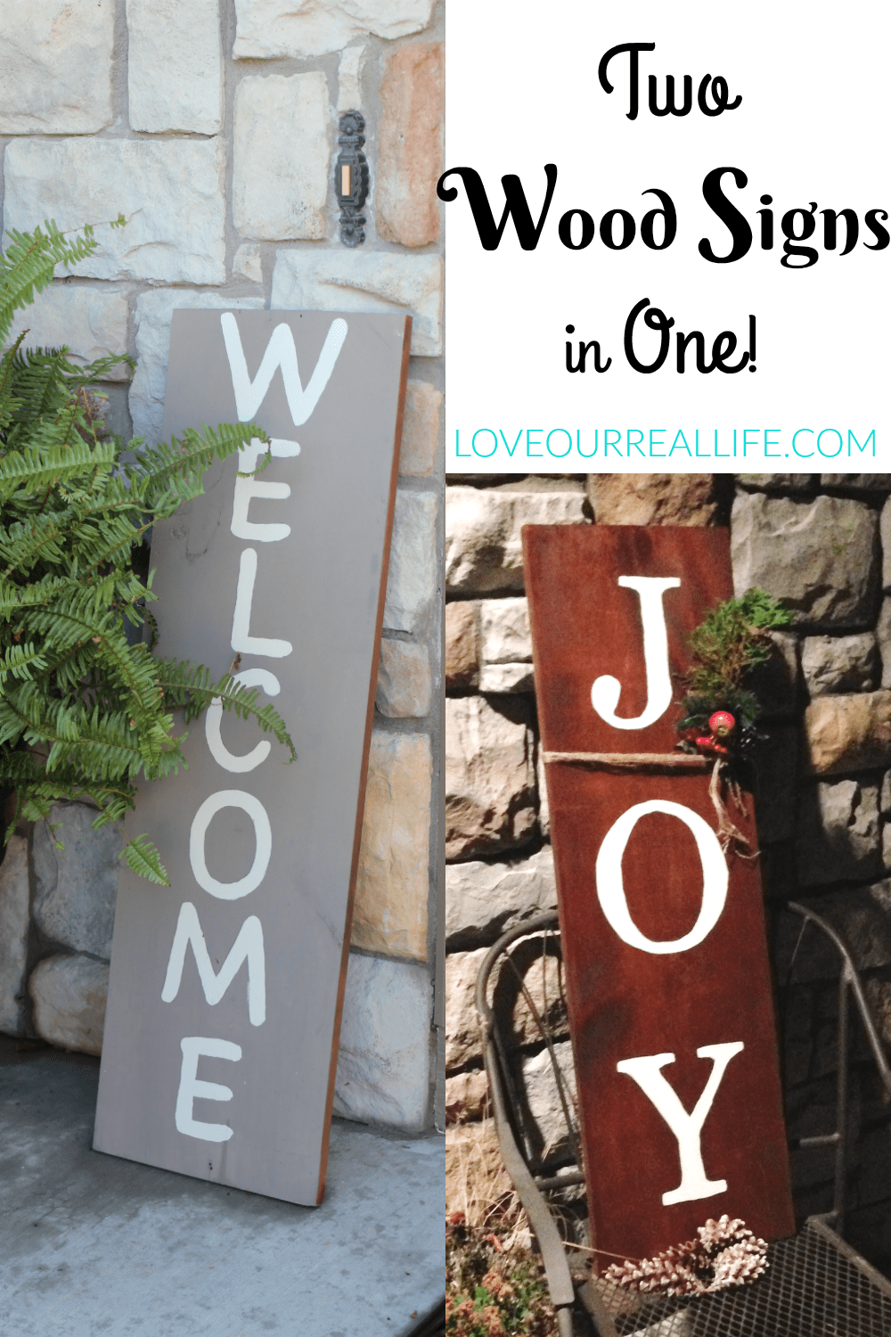 Outdoor wood signs, chalk paint, outdoor signs