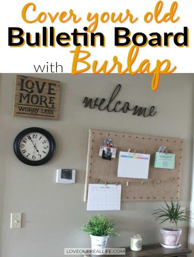 Burlap Bulletin Board DIY