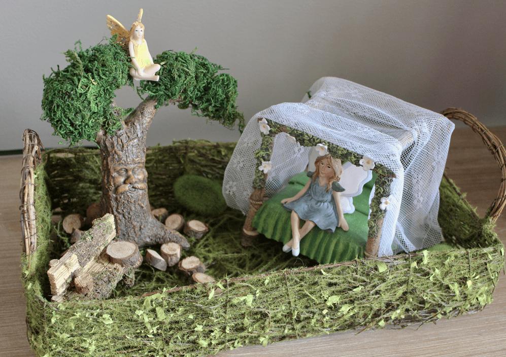 Completed Indoor Fairy Garden