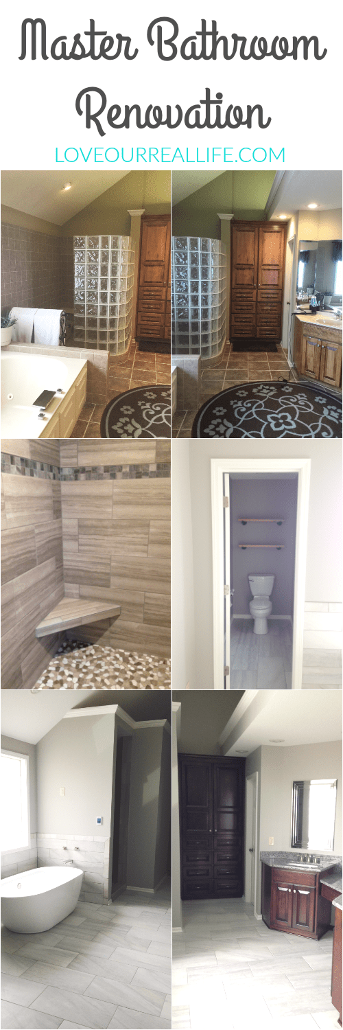 Renovate master bathroom, update master bathroom