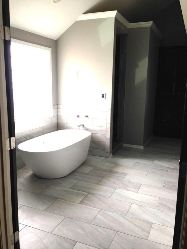 stand alone bathtub, bathroom remodel, bathroom renovation
