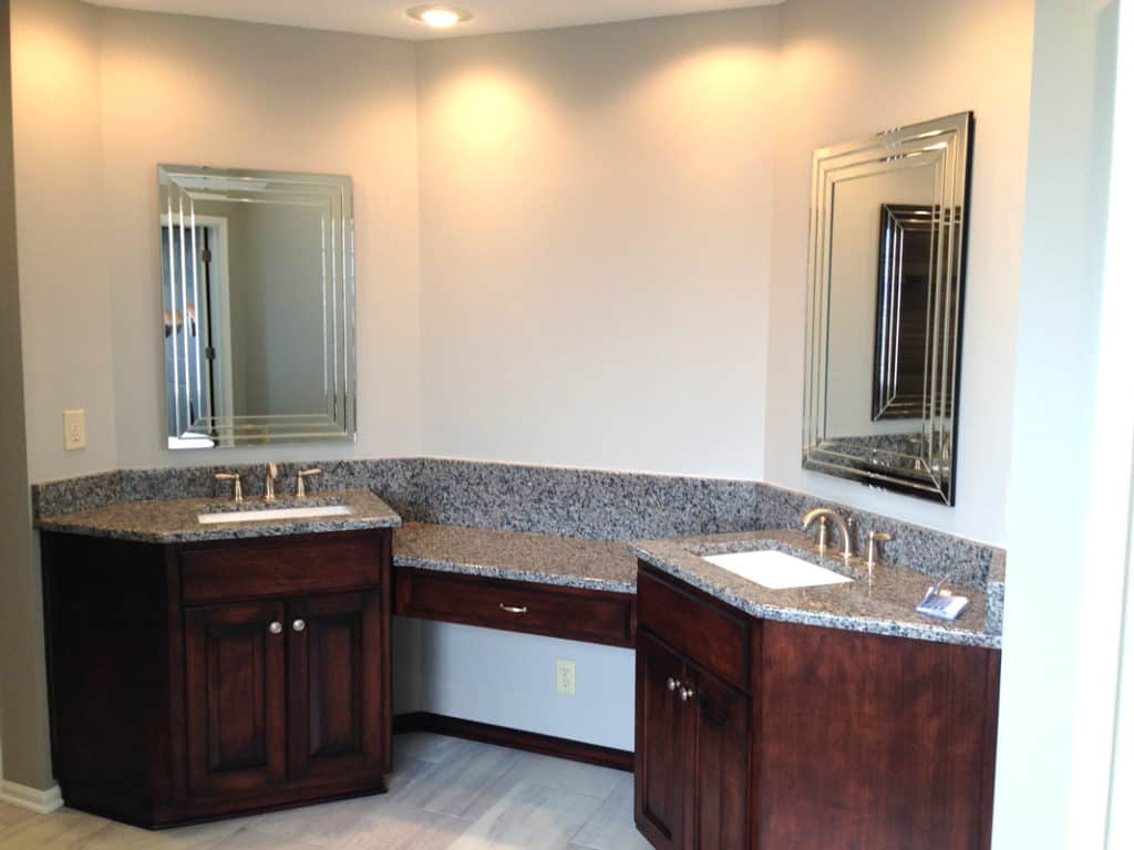 Master bathroom renovation, master bathroom remodel, bathroom vanity