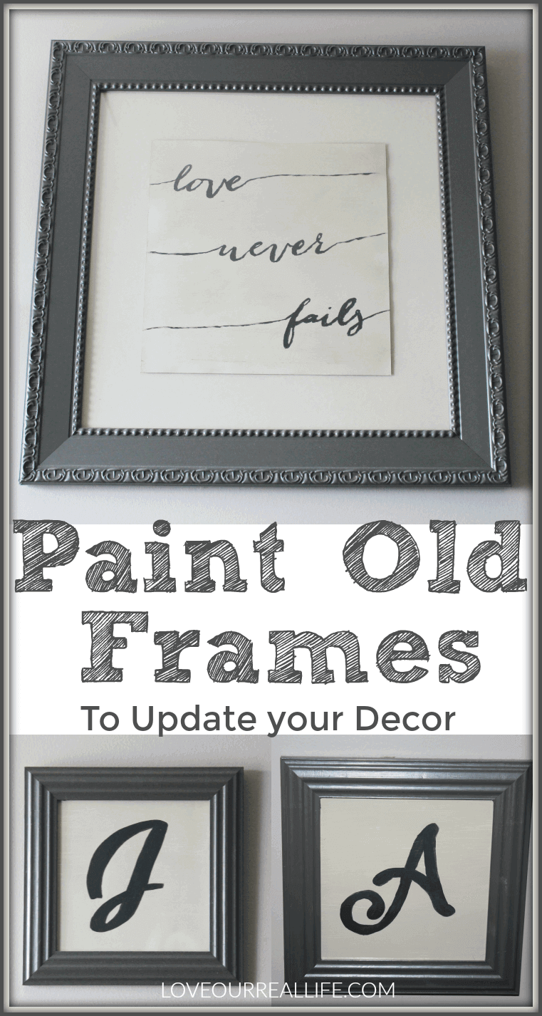 Paint old frames to update your decor!
