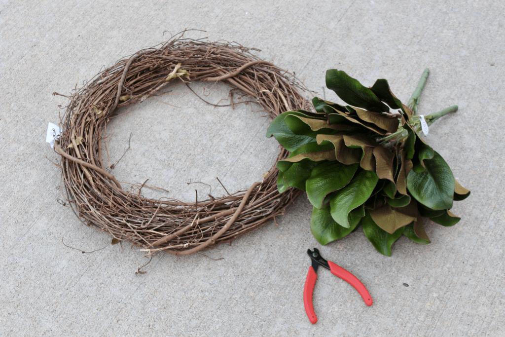 Magnolia wreath supplies