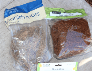 Spanish moss to substitute for twigs
