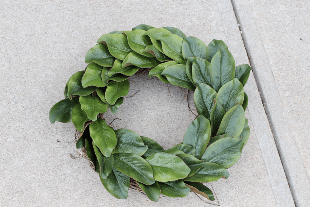 Shape the leaves for DIY wreath