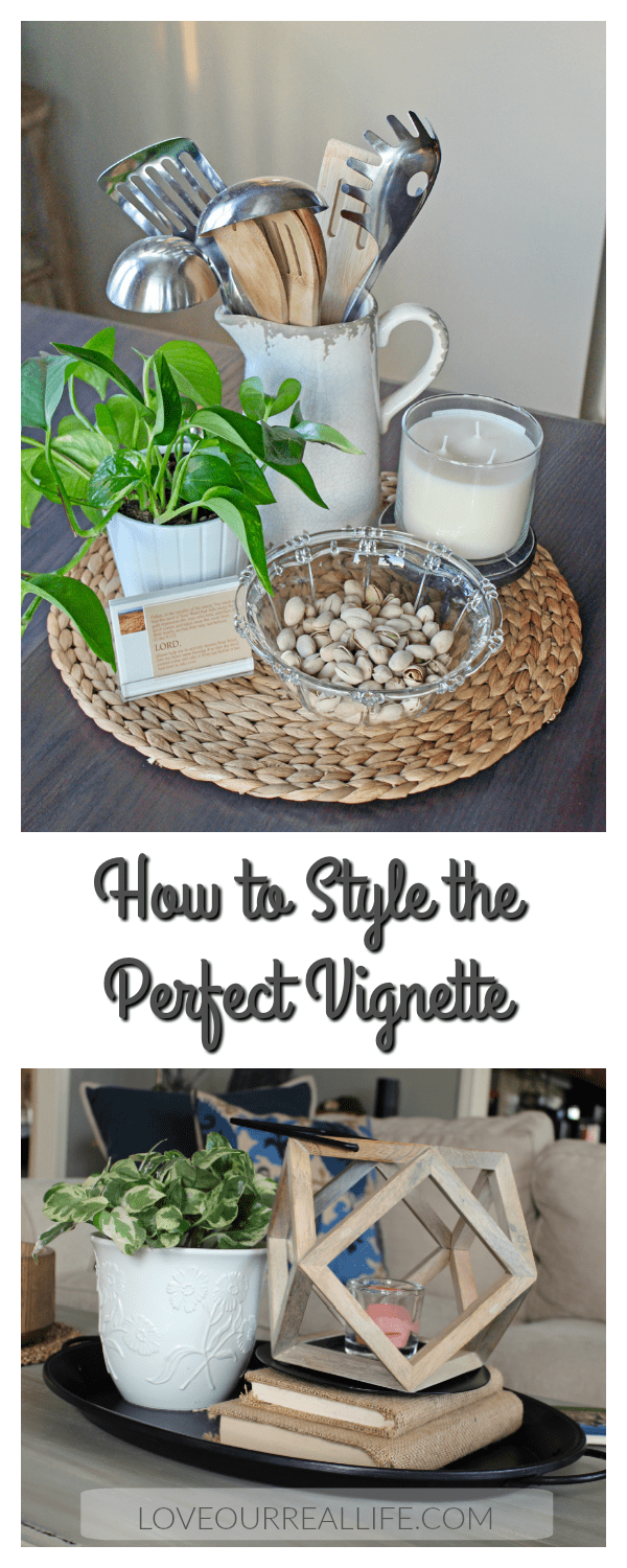 5 Tips for designing a vignette; How to style a vignette; how to create a vignette
