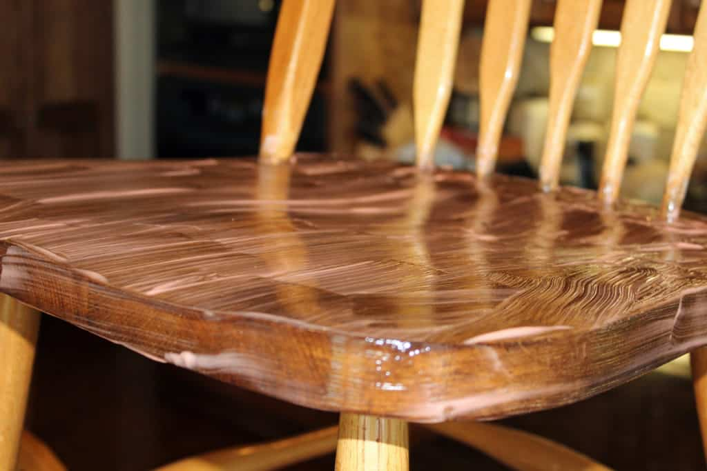 Citristrip taking stain off of oak chair