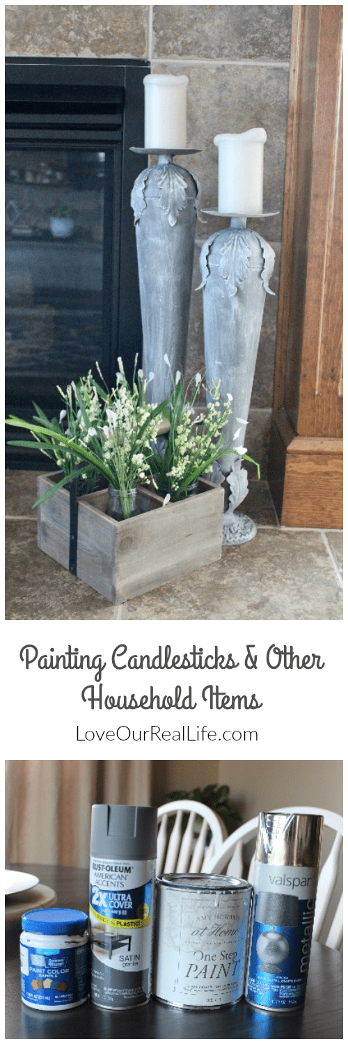 Using paint to update old decor items