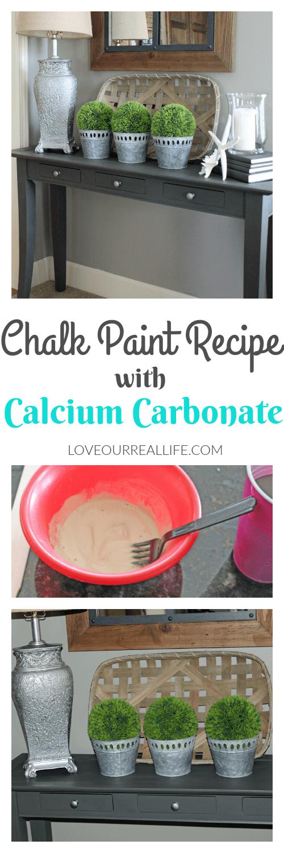 Chalk paint recipe with calcium carbonate