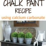 Gray table painted with homemade chalk paint recipe