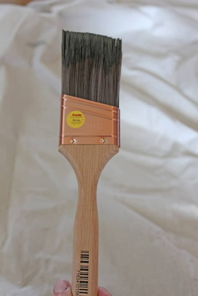 Purdy Brush used to paint furniture with home made chalk paint.