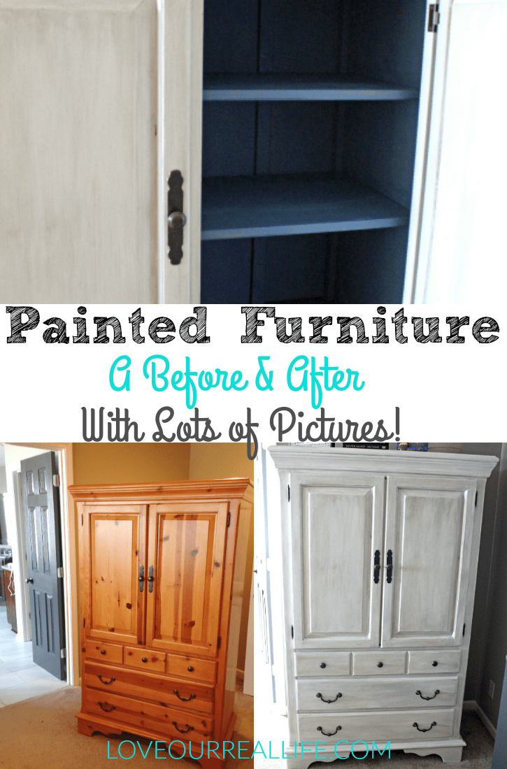 Painted furniture; A before and after with lots of pictures!