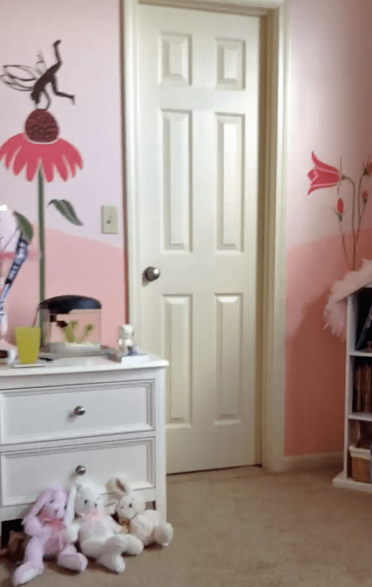 Tween girl's bedroom makeover, tween room before and after