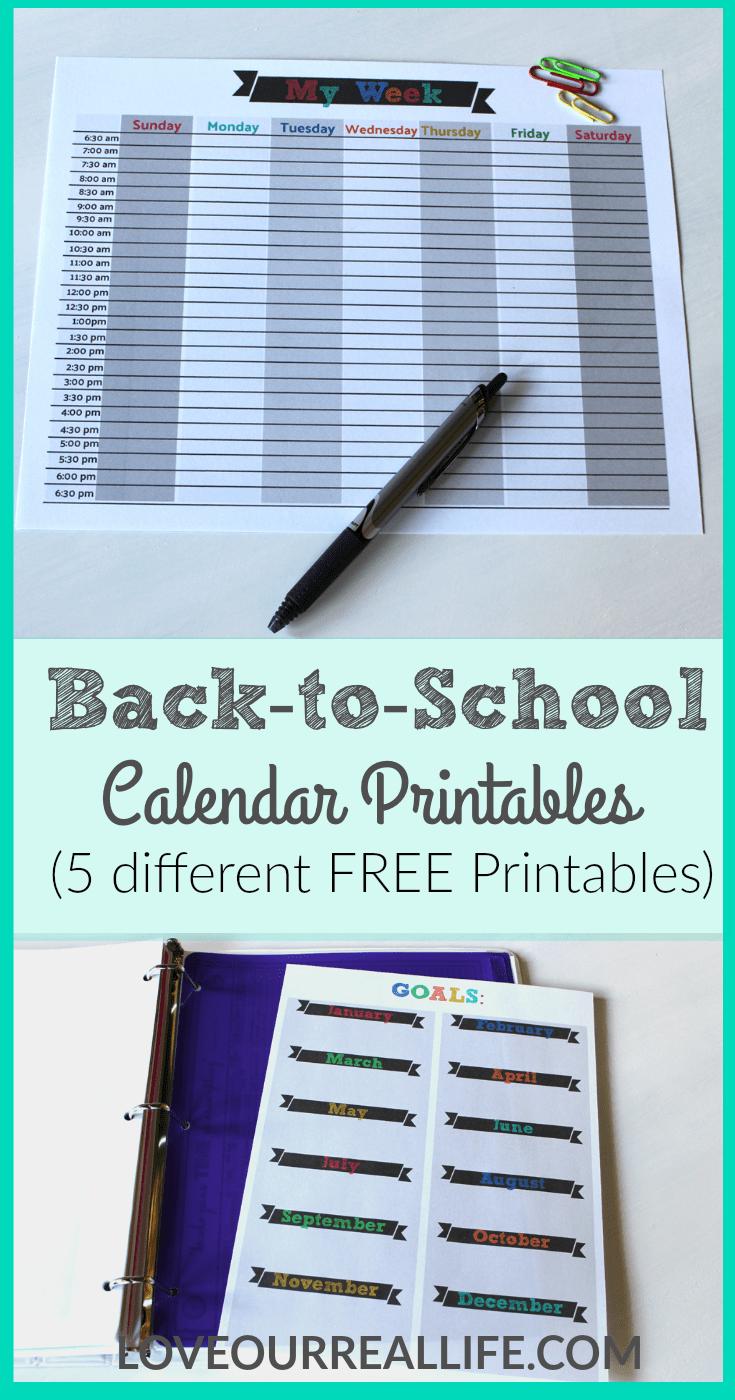 Back to school, back to school calendars, calendar printables, Free calendar printables