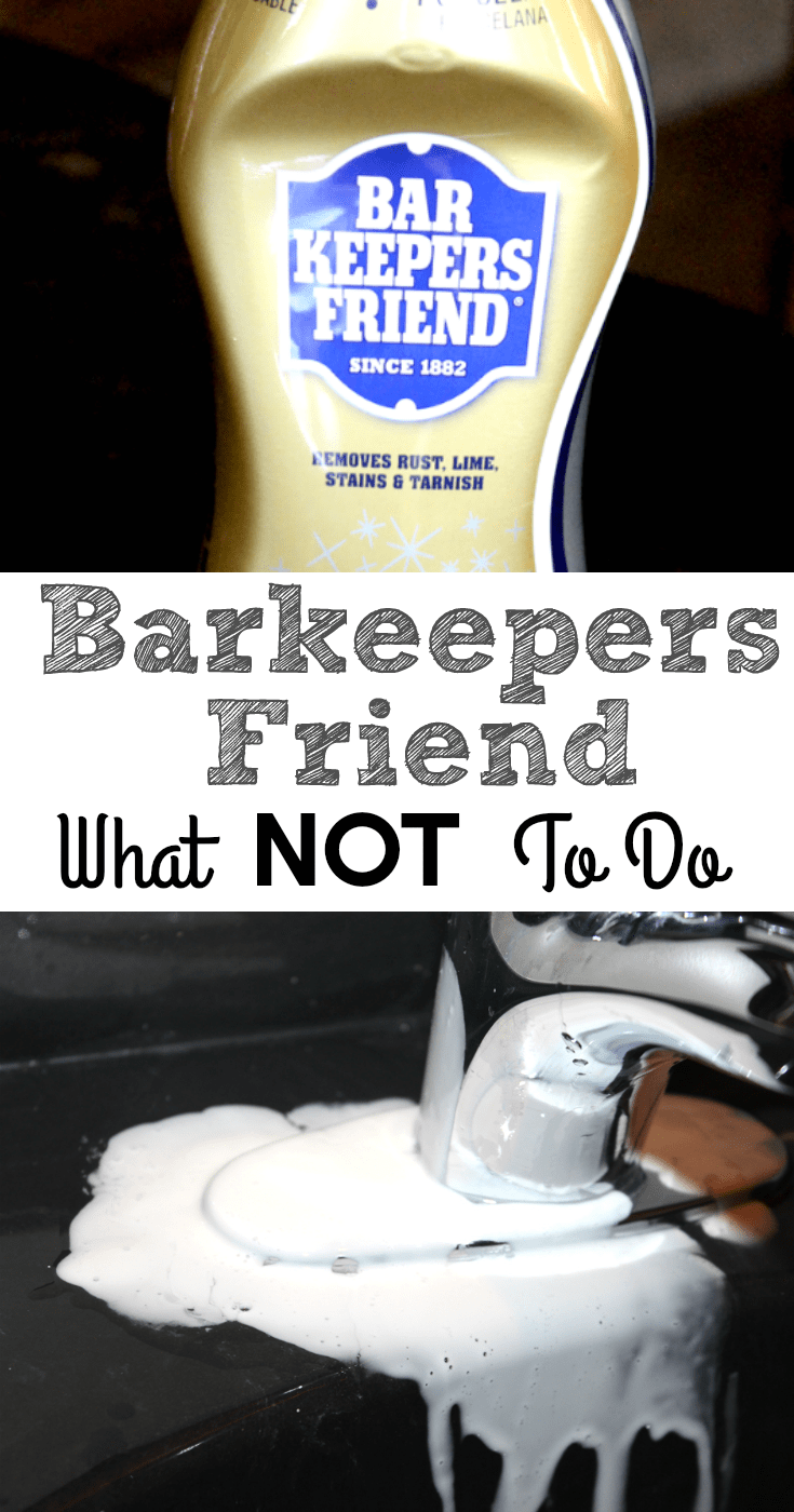 Bar keepers Friend What NOT to do!