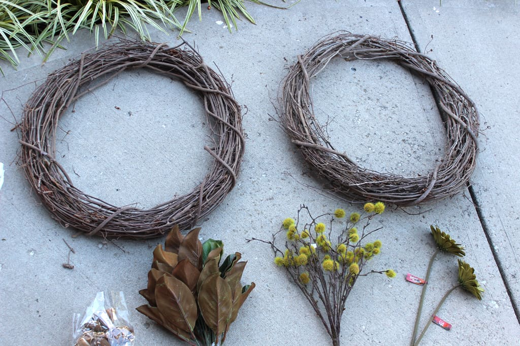 fall wreath, DIY fall wreath, fall wreath for front door, double door wreath, DIY wreaths for double doors