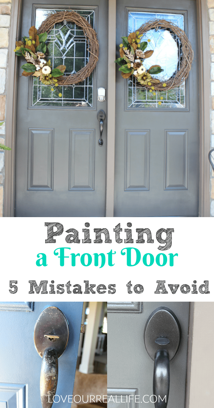 Painting a Front Door // Helpful Tips and 5 Mistakes to Avoid