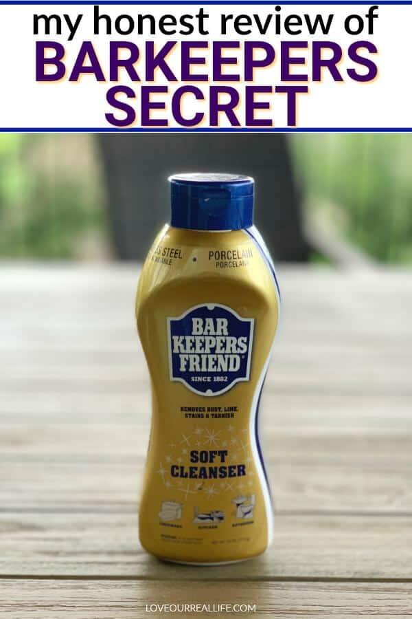 Barkeepers secret soft cleaner (available at Walmart)