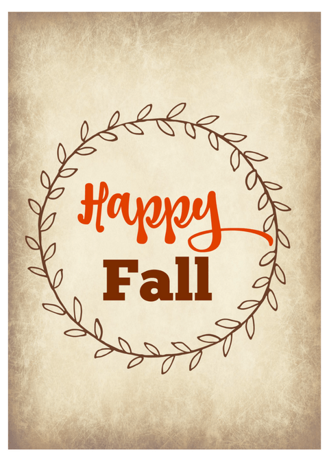 Happy Fall 5x7 printable