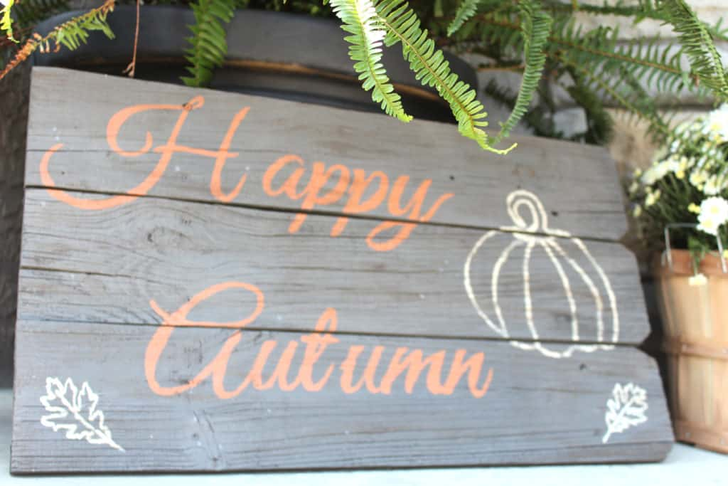 Fall wood sign, happy autumn outdoor wood sign, autumn front porch decor