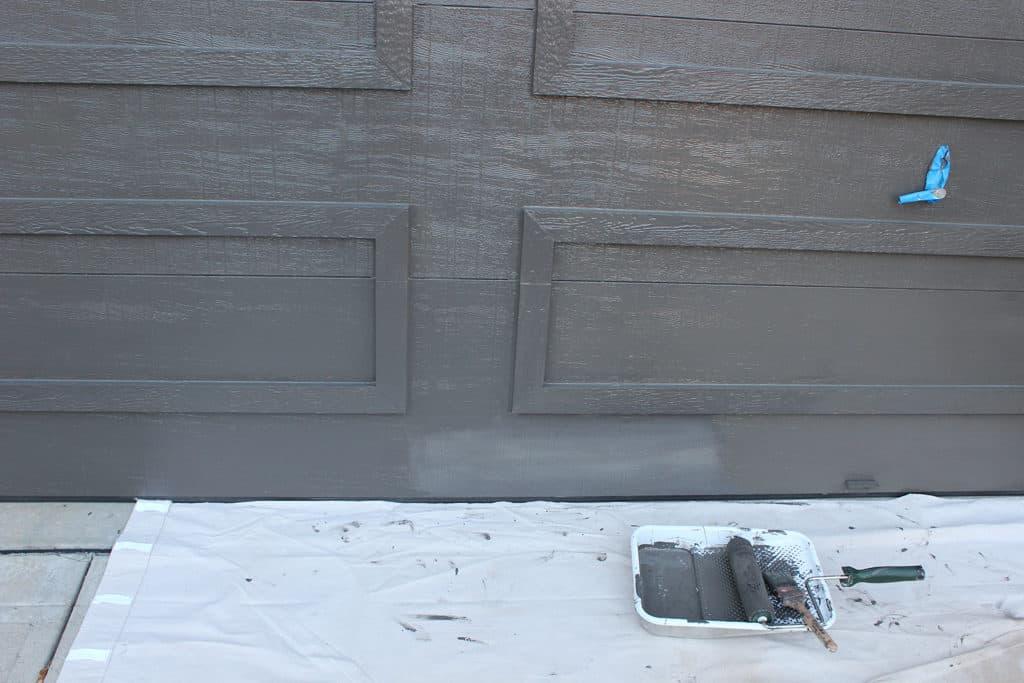 Almost done painting the garage door
