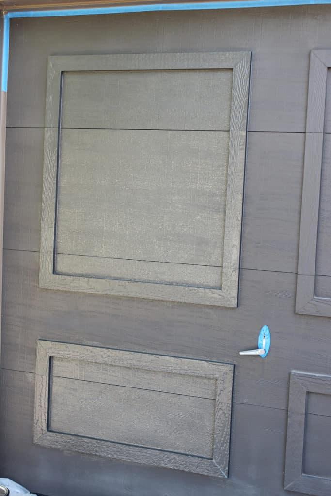 Urbane Bronze, by Sherwin Williams, on garage doors