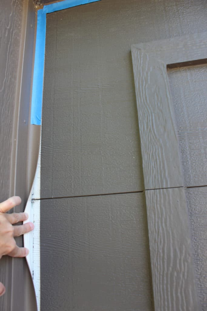 Tips for painting a garage door; how to tape it off