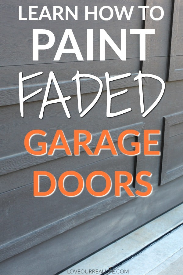 Painting faded garage doors