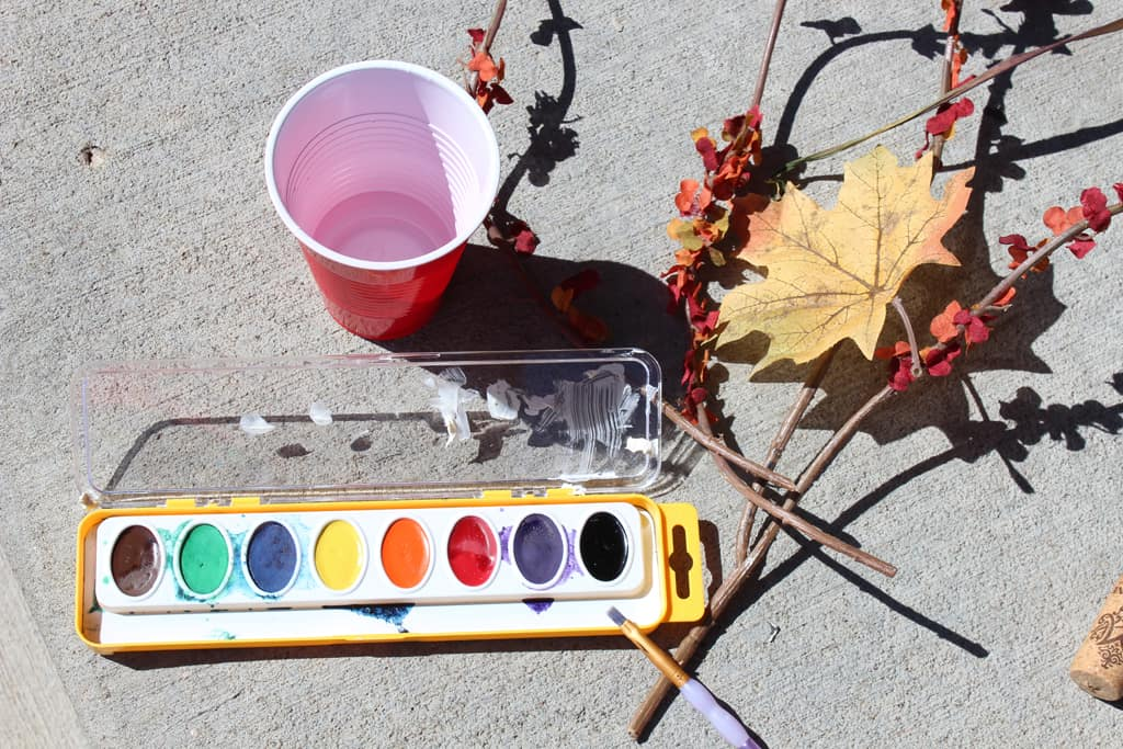 Water color paint crafts, Wine cork pumpkin, fall crafts