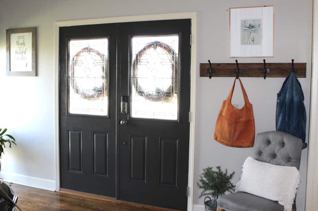 Urbane Bronze interior front doors