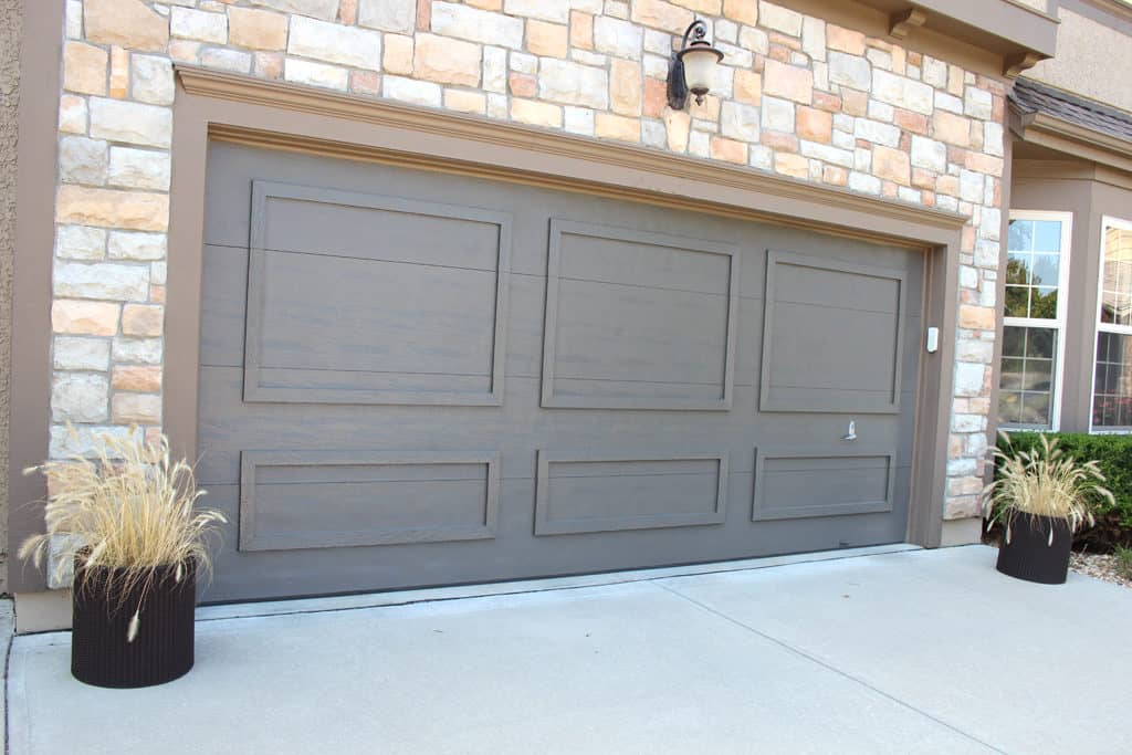 Garage door after painting