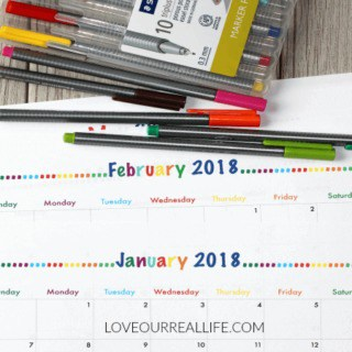 2018 FREE printable monthly calendars, 2018 calendars