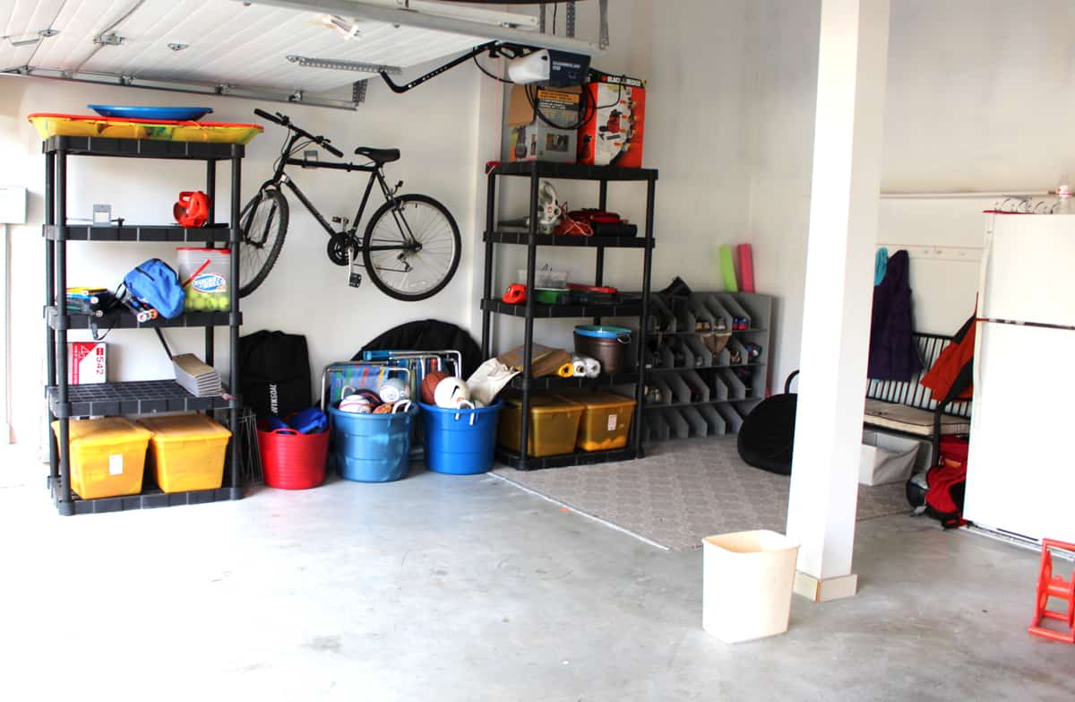 garage organization, mudroom in garage