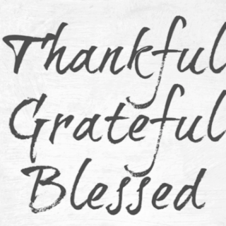 Thankful, grateful, blessed, Free Thanksgiving printable