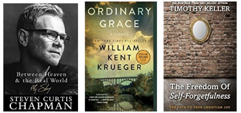 Christian book recommendations: Between Heaven & the Real World, Ordinary Grace, The Freedom of Self-Forgiveness