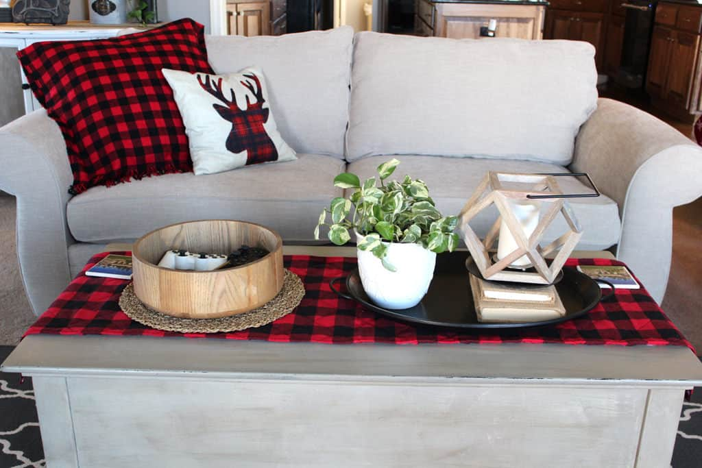 DIY Buffalo Plaid Table runner