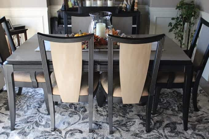 Remarkable Dining Table Makeover With Chalk Paint Love Our Real Life Spiritservingveterans Wood Chair Design Ideas Spiritservingveteransorg