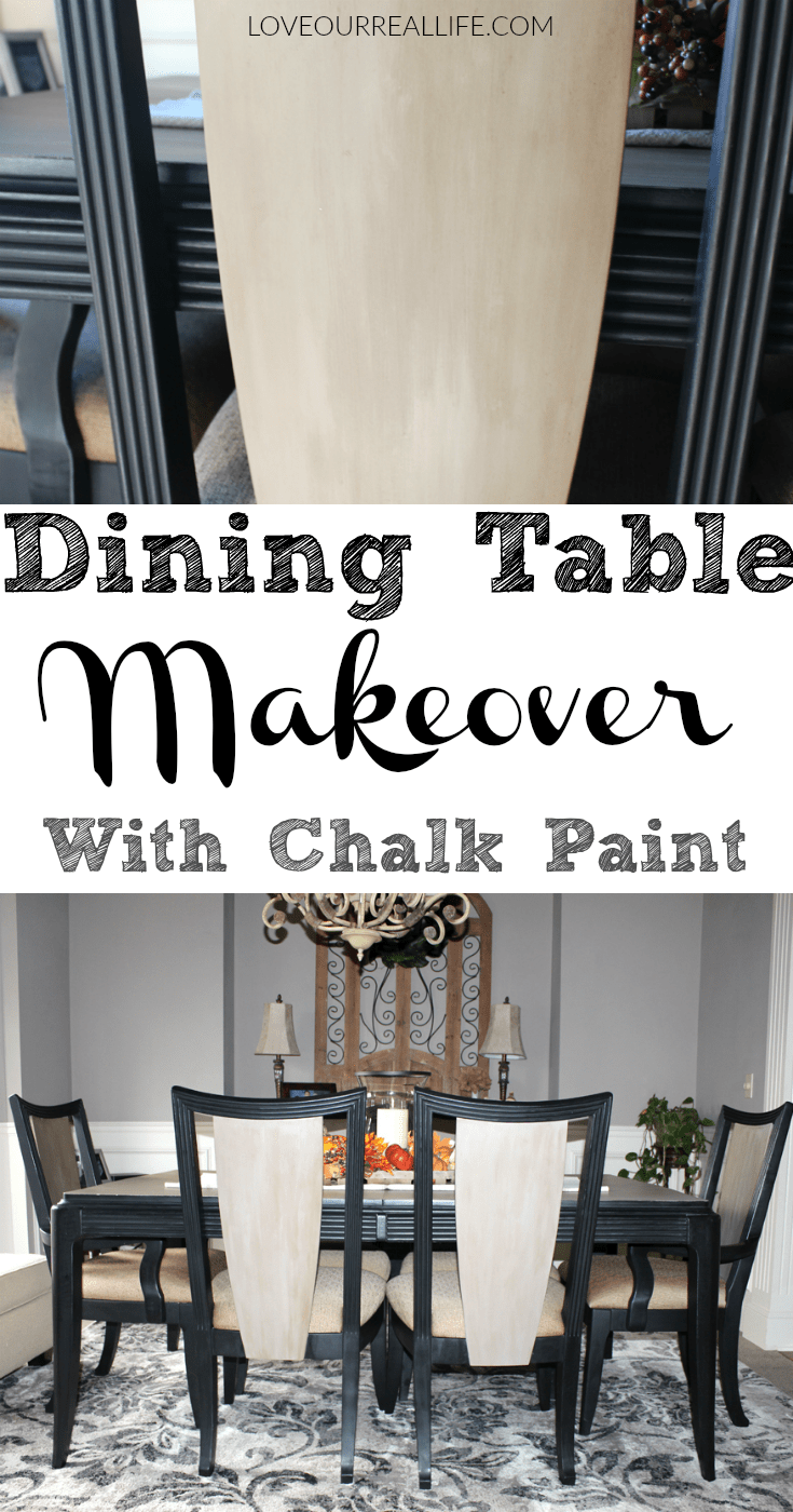 Dining Table Makeover with Chalk Paint