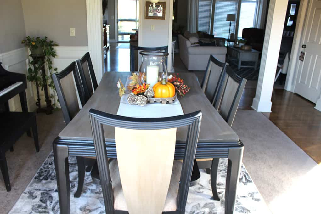 After image dining table makeover