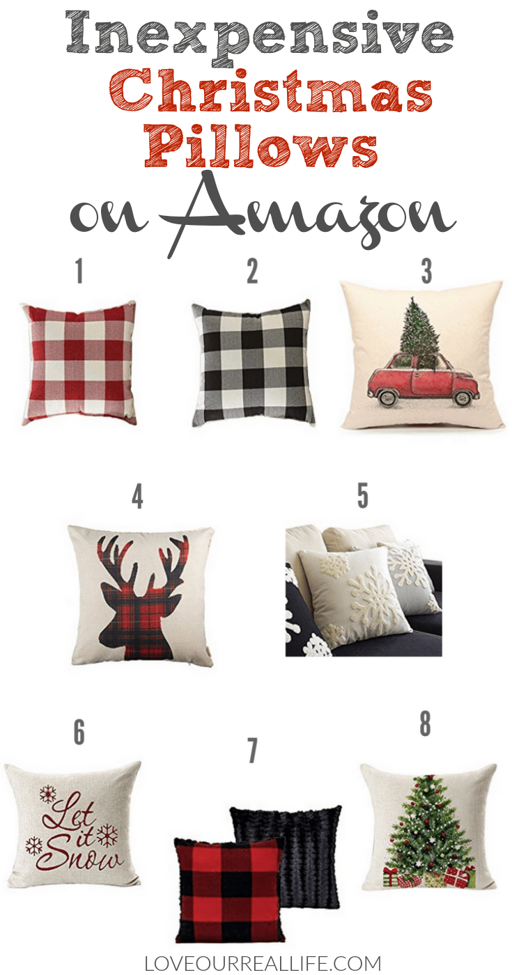 inexpensive christmas pillows on amazon buffalo plaid christmas pillows decorating for christmas with - Amazon Christmas