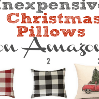 Reasonably priced Christmas pillows on Amazon