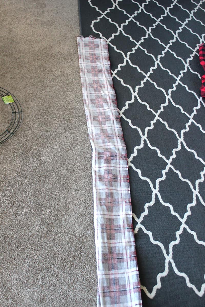 infinity scarf folded like a hot dog