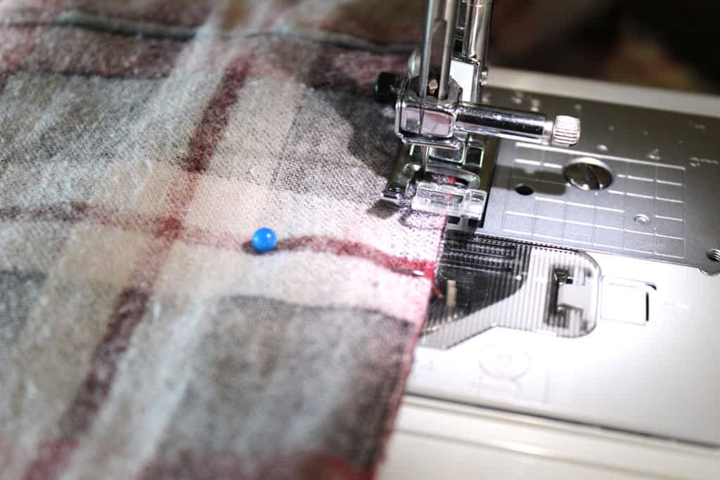 Sewing a DIY infinity scarf