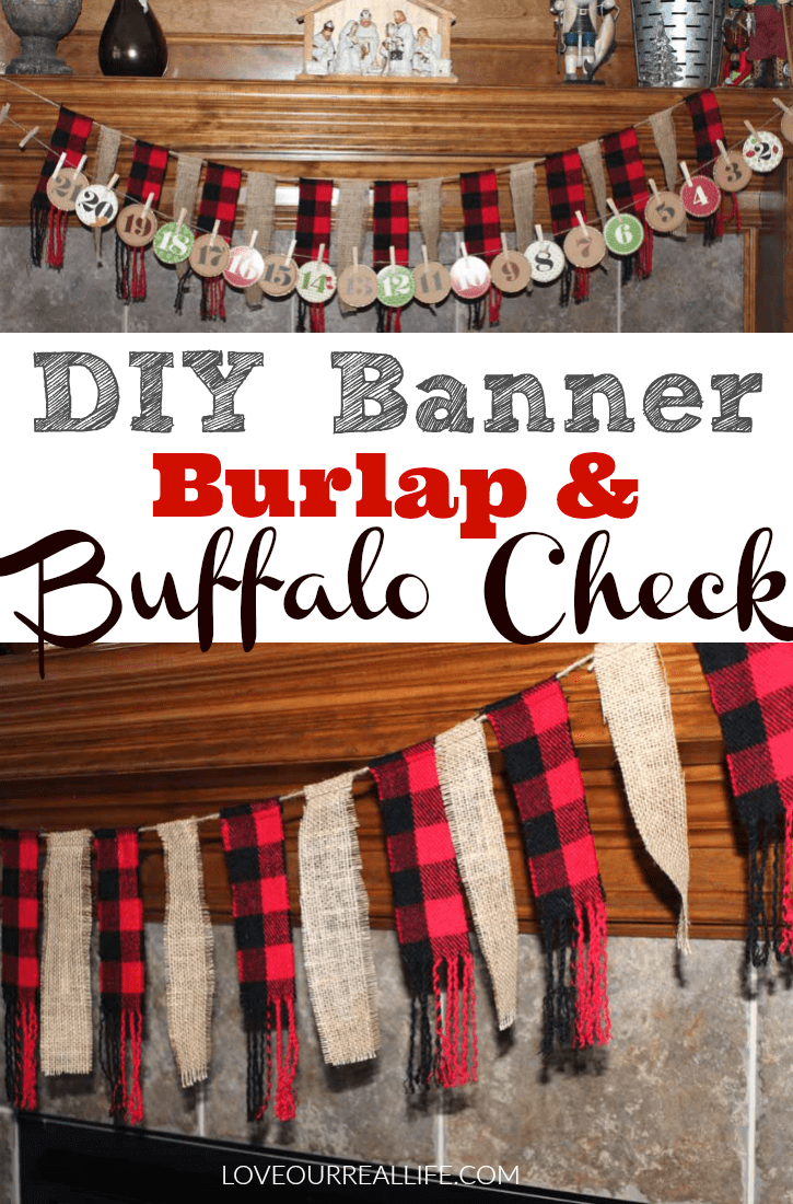 Tutorial for banner with burlap and buffalo check