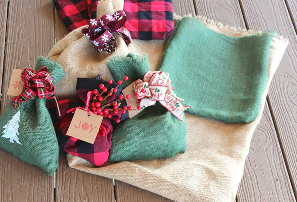 Make all different size gift sacks with my easy tutorial!