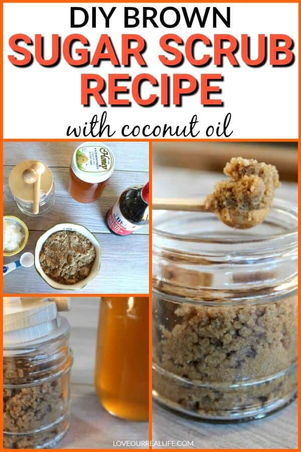 DIY Brown sugar scrub with coconut oil