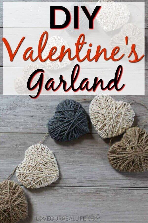 DIY Valentine's Day Garland - String heart banner